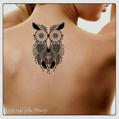 Hey, I found this really awesome Etsy listing at https://www.etsy.com/listing/237748870/temporary-tattoo-owl-dreamcatcher