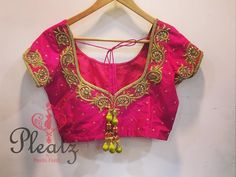 Global market Leader in Ethnic World, we serve End 2 End Customizable Indian Dreams That Reflect with Amazing Handwork & Unique Zardosi Art by Expert Workers Worldwide . Blouse Designs Catalogue, Best Blouse Designs, Wedding Saree Blouse Designs, Simple Blouse Designs, Dress Designs, Hand Work Blouse Design, India, Hand Embroidery, Embroidery Blouses