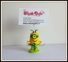 Trupti's Craft: Paper Quilling Au Natural Minion Card or Photo Hol...
