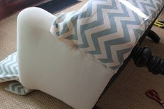 easy diy sofa slip cover   Back on Festive Road: Sofa makeover: From Shabby to Chic.....