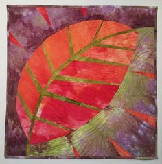 New Big Leaf art quilt by Pat Pauly.