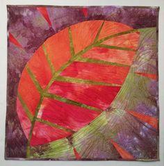 New Big Leaf art quilt by Pat Pauly.