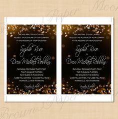 Champagne Bubbles Text-Editable Wedding by BrownPaperMoon on Etsy