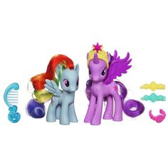 My Little Pony - - Poupée - Poney et Princesse - Crystal Twilight and Rainbow Dash My Little Pony Twilight, My Little Pony Princess, Rainbow Dash, Pony 2, Hasbro My Little Pony, Princess Twilight Sparkle, Barbie, Thing 1, Christmas Toys