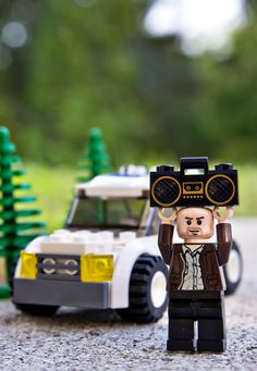 Say Anything Lego, heart. just. melted. I am such a nerd! I love this!!!