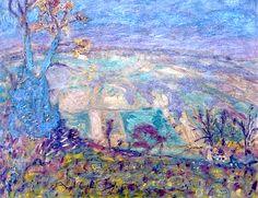 Pierre Bonnard - Paysage (arbre bleu) - 1944