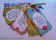 Verve Scripture Tags-bc by beestamper - Cards and Paper Crafts at Splitcoaststampers