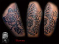 Unterarm - Taschenuhr #tattoo #tattoorosenheim #forlifecolor #tattooraubling #instatattoo #rosenheim #raubling #chris #blackandgrey #neotraditional #newschool #time