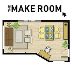 Will have to try this...enter the dimensions of your room and the things you want to put in it... it helps you come up with ways to arrange it. Pin now, look later.