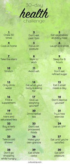 the 30 day health challenge