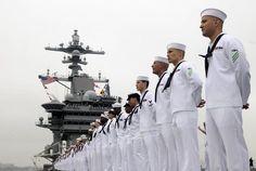 Sailors Manning The Rails, always a magnificent sight.