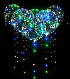 Eanjia Led Bobo Balloon Flashing Lights for Birthday Wedding Christmas Propose Party Decorative ,Fillable with Helium ,Best night party supplies Glow In Dark Party, Glow Party, Disco Party, Valentinstag Party, Wallpaper Cumpleaños, Balloon Arch Diy, Red Background Images, Neon Birthday, Birthday Party Decorations