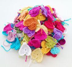 Crochet Hearts. ♥♥