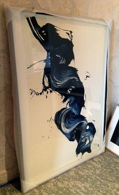 A James Nares painting that's about to be installed in a home I'm working in.