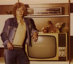 A two-tone denim jacket and a color T.V. is all I need to get the girls.