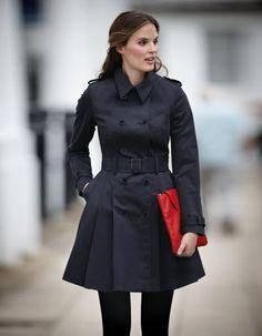 Pepperberry Trench Coat for busty girls Full Skirt Trench Coat