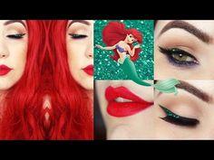 Ariel Makeup Tutorial - Maquiagem Delineado Escama de Sereia - YouTube