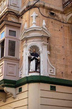 St. Dominic at a street corner in Malta.