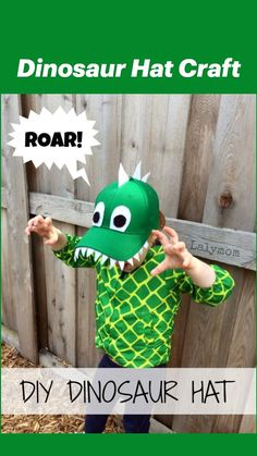 Recycled Crafts Kids, Easy Crafts For Kids, Summer Camps For Kids, Summer Kids, Dinosaur Hat, Hat Crafts, Fine Motor Skills, Preschool, Recycling