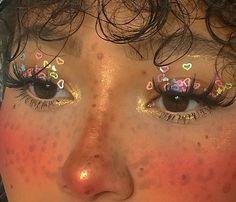 Cute Makeup Looks, Makeup Eye Looks, Eye Makeup Art, Pretty Makeup, Makeup Eyes, Indie Makeup, Edgy Makeup, Makeup Inspo, Makeup Inspiration