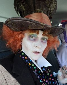 Get made up as the Mad Hatter for Halloween night.