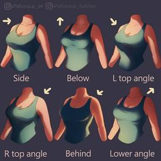 Breast/chest lighting guide, reference, girl, Woman, shading guide - #mens #watches