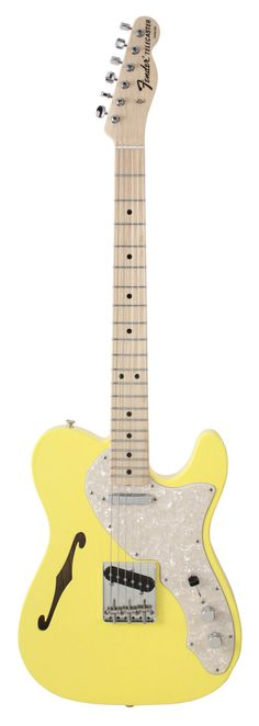 fender custom shop - 1969 telecaster thinline. canary yellow.