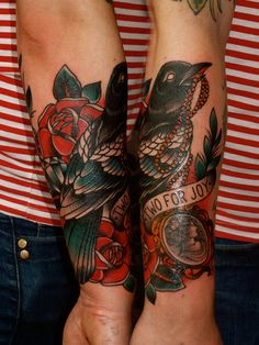 traditional magpie tattoo - Google Search