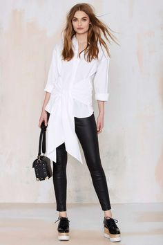 Cameo Hands On Tie Shirt | Shop Clothes at Nasty Gal!