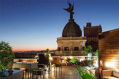Terraza del Vincci Vía 66 (Madrid). Más info en mi lista de terrazas top de Madrid de 2016 en www.madridcoolblog.com