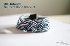 diy nautical rope bracelets