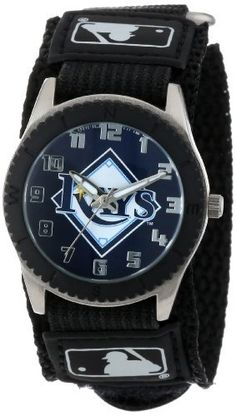 """Game Time Unisex MLB-ROB-TB """"Rookie Black"""" Watch - Tampa Bay Rays"""