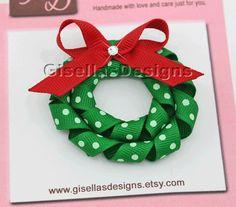 wreath hair bow