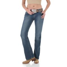 fa48d421402 Womens Wrangler Premium Patch with Booty Up Technology Low Rise 34 Inseam  Jeans