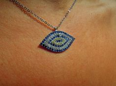 Check out this item in my Etsy shop https://www.etsy.com/listing/247583596/evil-eye-necklace-925k-sterling-silver