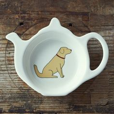 Golden Retriever Teabag Dish Golden Retriever Gifts, Unique Gifts, Great Gifts, Kraft Gift Boxes, Goldendoodle, Earthenware, Tea Towels, Dog Tags, Dog Lovers