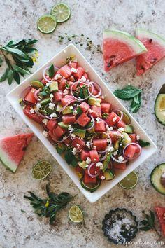 Salade de PASTEQUE & FETA | Chiara Stella Home