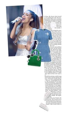 """Ariana Grande Ponytail!"" by maya20076 ❤ liked on Polyvore featuring Nicki Minaj, House of Holland, bleu, Tiffany & Co., Superga, Topshop, denim, GREEN, Dior and ponytail"