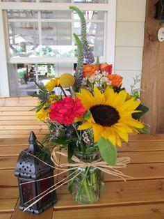 Gorgeous country bouquet! @ Khimaira Farm outdoor barn wedding venue Shenandoah Valley Blue Ridge Mountains Luray VA