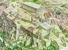 A Restoration of the Athens Acropolis History Of Wine, Greek History, Mystery Of History, Ancient History, Athens Acropolis, Parthenon, History Timeline, Famous Landmarks, Imagines