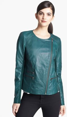 Love this: Leather Moto Jacket @Lyst ~ WANT BAD!!! Extra Large!!