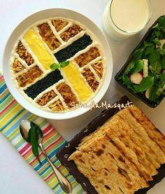Iranian Desserts, Iran Food, Iranian Cuisine, Veggie Kabobs, Baby Birthday Cakes, Food Garnishes, Food Decoration, Food Platters, Unique Recipes
