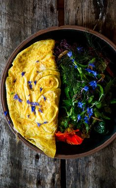 Any seasonal vegetables can replace the zucchini and onion; at Chase's, they change it up frequently. Gourmet Breakfast, Breakfast Ideas, Breakfast Recipes, Omelettes, Egg Recipes, Healthy Recipes, Vegetable Seasoning, Breakfast Burritos, Early Bird