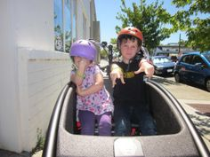 Two big kids on a very generously-sized bench seat - urban arrow review