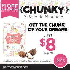 Hey, Haute Stuff! Get this chic Chunk for just $8 this month! www.perfectlyposh.com/poshedbylaura