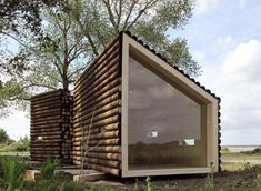 Relaxshacks.com: THIRTEEN Tiny Dream Log Cabins- AND a floating log home!