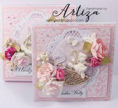 z rąk wyjęte...: ROCZEK I 2LATKA :) kartki dla młodych księżniczek:)