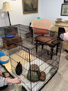 Is your pet crate an ugly eyesore? Learn how to make a crate cover with this DIY pattern to sew a large fabric cover. Dog Crate Cover, Diy Dog Crate, Ginger Cow, Collapsible Dog Crate, Diy Plate Rack, Bunny Hutch, Bunny Cages, Hutch Makeover, Rabbit Hutches