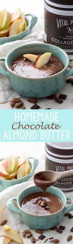 Homemade Chocolate Almond Butter. This is such an easy recipe, and it has added protein to make it the perfect snack! LOVE #ad  - Eazy Peazy Mealz