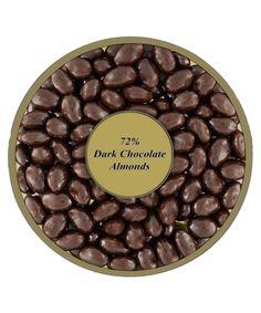 72% Dark Chocolate covered Almonds  1lb 4oz